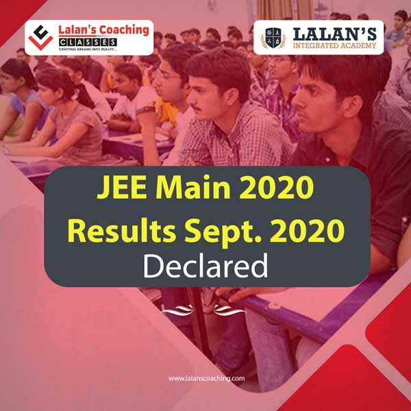 JEE Main Results September 2020 Out