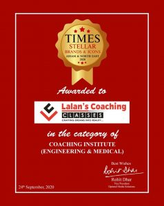 Times Award 2020 - Best Coaching Classes in Assam for Engineering and Medical